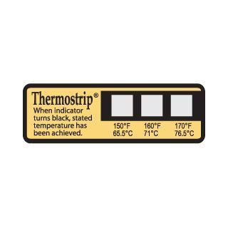 Picture of Thermostrip DL Dishwasher Temperature Labels-Three Temperature